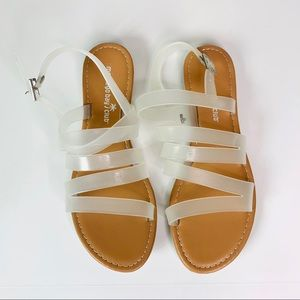 Montego Bay Club sandals Clear Jelly size 8